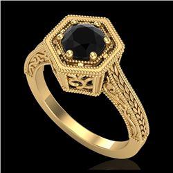 1.15 ctw Intense Fancy Yellow Diamond Art Deco Earrings 18K White Gold