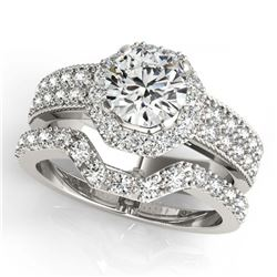 1.96 ctw VS/SI Diamond 3 Stone 2pc Wedding Set 14K Yellow Gold