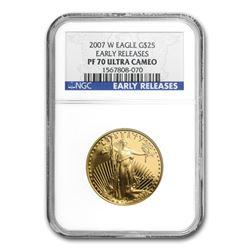 2007-W 1/2 oz Proof Gold American Eagle PF-70 NGC (ER)