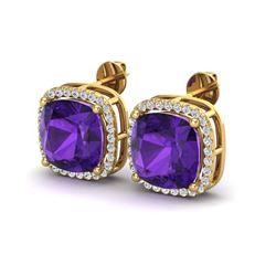 1.75 ctw Citrine & VS/SI Diamond Necklace 18K Yellow Gold