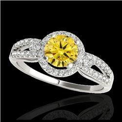 2 ctw Fancy Black Diamond Solitaire Necklace 10K White Gold