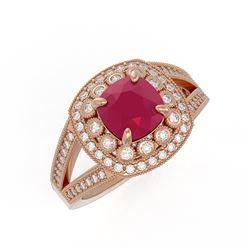 1.20 ctw VS/SI Diamond Solitaire Art Deco Ring 18K Rose Gold