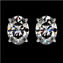 6.47 ctw Ruby & Diamond Halo Earrings Yellow 10K Yellow Gold