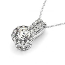 1.83 ctw VS/SI Diamond 2pc Wedding Set Halo 14K White Gold