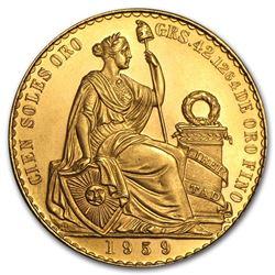 Peru Gold 100 Soles AU/BU (Random Years)