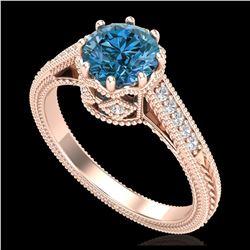 2.11 ctw Intense Fancy Yellow Diamond Art Deco Necklace 18K Rose Gold