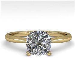 2.15 ctw Fancy Black Diamond Solitaire Ring 10K Rose Gold