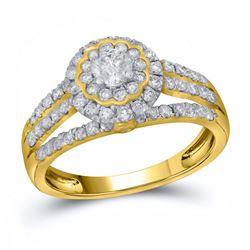14kt White Gold Round Diamond Single Row Machine-set Wedding Band 1/3 Cttw