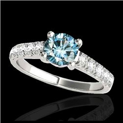 2.05 ctw H-SI/I Diamond Solitaire Halo Ring 10K White Gold