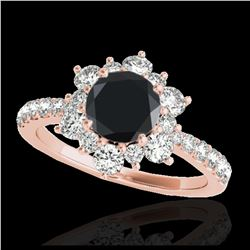 1.37 ctw H-SI/I Diamond Solitaire Halo Ring 10K Yellow Gold