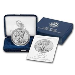 2019-S 1 oz Enhanced Reverse Proof Silver Eagle (w/Box & CoA)