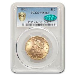 1901 $10 Liberty Gold Eagle MS-65+ PCGS CAC