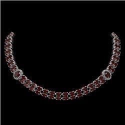 4 ctw Sky Blue Topaz & VS/SI Diamond Necklace 14K Yellow Gold