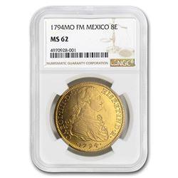 1794 Mo-FM Mexico Gold 8 Escudos Charles IV MS-62 NGC