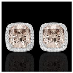 1.50 ctw SI Fancy Blue Diamond Solitaire Halo Ring 10K Rose Gold