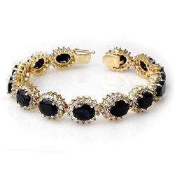 4.20 ctw Multi-Sapphire & Diamond Ring 10K White Gold