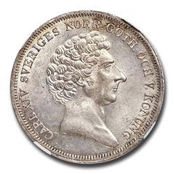 1835 CB Sweden Silver Riksdaler MS-63 NGC