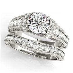 10.2 ctw Ruby & Diamond Halo Earrings White 10K White Gold