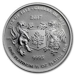 2017 Canada 1/2 oz Platinum War of 1812 BU