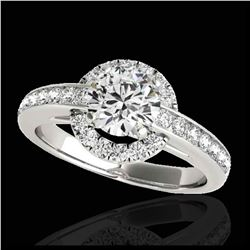 2 ctw H-SI/I Diamond Solitaire Halo Ring 10K Rose Gold