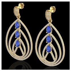 3.50 ctw Tanzanite & VS/SI Diamond Heart Necklace 14K White Gold