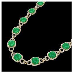 7.11 ctw Emerald & Diamond Ring 14K Rose Gold