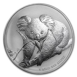 2010 Australia 1 kilo Silver Koala BU