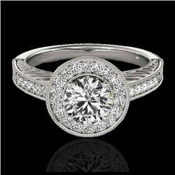2.50 ctw Citrine & VS/SI Diamond Necklace 14K Rose Gold