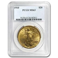 1910 $20 Saint-Gaudens Gold Double Eagle MS-63 PCGS