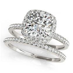 1.96 ctw VS/SI Diamond 2pc Wedding Set Halo 14K Yellow Gold