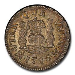 1746 Mo-M Mexico 1/2 Real Philip V MS-64 PCGS