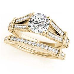 2.50 ctw Ruby & Diamond Ring 14K Yellow Gold
