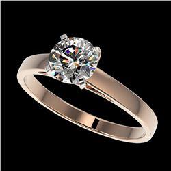 2 ctw SI/I Fancy Intense Yellow Diamond Halo Ring 10K Rose Gold