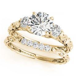 2.05 ctw VS/SI Diamond 3 Stone 2pc Wedding Set 14K White Gold