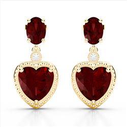 12 ctw Citrine & Halo VS/SI Diamond Earrings 18K White Gold