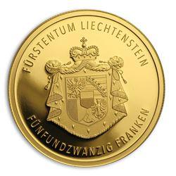 2019 Liechtenstein 1/4 oz Proof Gold 300 Years Liechtenstein