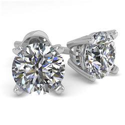 1.31 ctw VS/SI Diamond 2pc Wedding Set Halo 14K White Gold