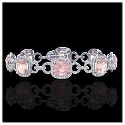 5.88 ctw Tourmaline & Diamond Halo Earrings 10K Rose Gold