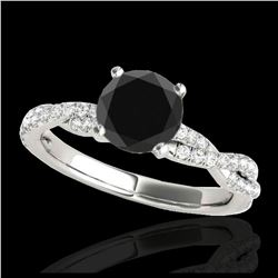 0.53 ctw Intense Fancy Yellow Diamond Art Deco Ring 18K Rose Gold