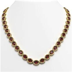 46.44 ctw Canary Citrine & Diamond Bracelet 14K Rose Gold