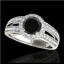 1.10 ctw VS/SI Diamond Solitaire Art Deco Stud Necklace 18K Rose Gold