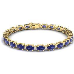 29.82 ctw Jade & Diamond Bracelet 14K White Gold