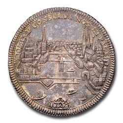 1727 Swiss Cantons Zürich Silver Thaler AU-58 NGC