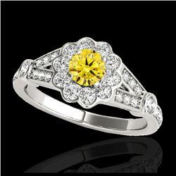 14.16 ctw Emerald & Diamond Earrings 14K Rose Gold