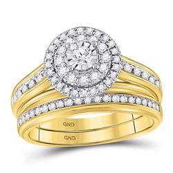 14kt White Gold Round Diamond Heart Pendant 1/10 Cttw