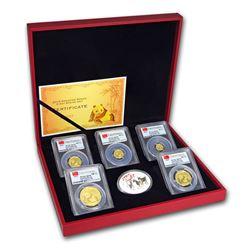 2015 China 5-Coin Gold Panda Prestige Set MS-70 PCGS (FS)
