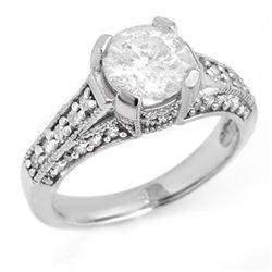 4.75 ctw Rubellite & Diamond Ring 14K White Gold