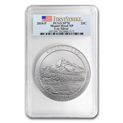 2010-P 5 oz Silver ATB Mount Hood SP-70 PCGS (FirstStrike®)