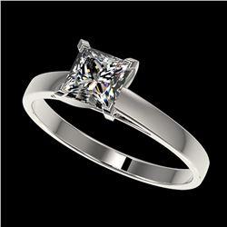 3.25 ctw SI/I Fancy Intense Yellow Diamond 3 Stone Ring 10K White Gold