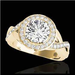 1.80 ctw VS Black Diamond Solitaire Halo Ring 10K White Gold